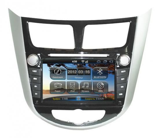 Магнитола Android на Hyundai Solaris